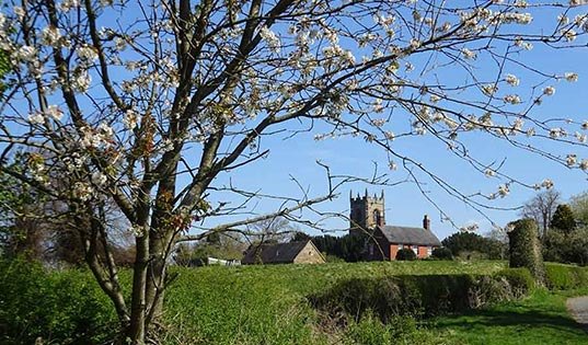 Mayfield Church in Spring
