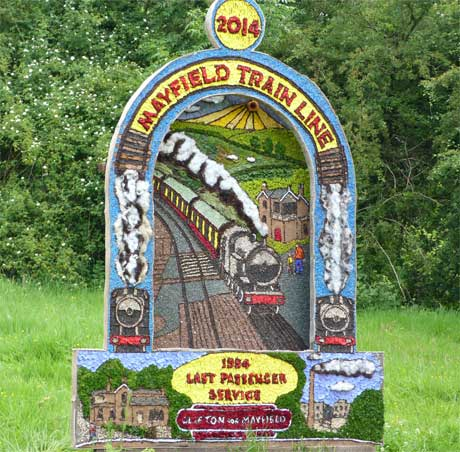 Mayfield Well Dressing - An ancient custom where folk art painted by local artists is transformed into colourful tableaux using flower petals and other natural materials.